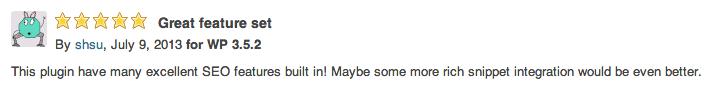 Un commentaire posté sur le plugin WordPress SEO by Yoast